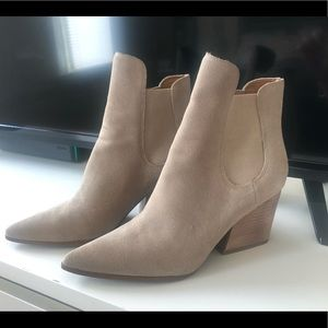Kendall & Kylie tan suede ankle boots